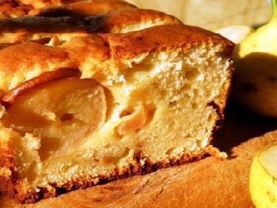 Творожный кекс с грушей, самый вкусный рецепт