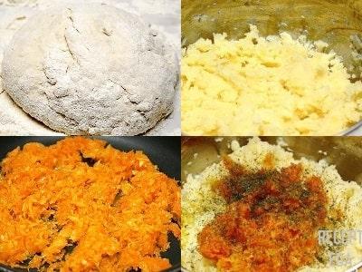 вареники с картошкой и морковью