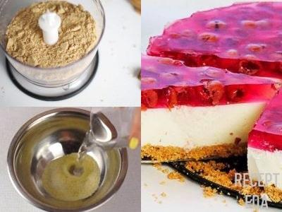 вишневый чизкейк без выпечки с творогом