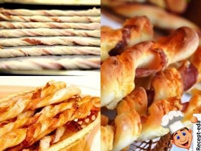 хлебные палочки с беконом