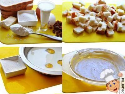 хлебныйпудингс яблоками, пудинг из батона, рецепт