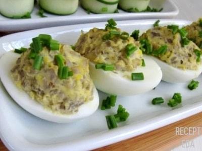 яйца фаршированные куриной печенкой