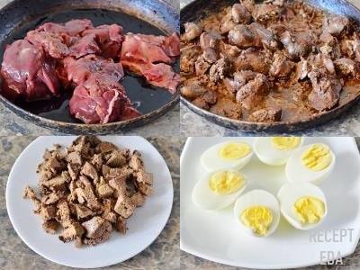 яйца фаршированные куриной печенью рецепт