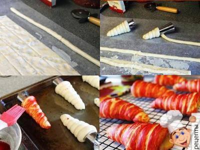 закуски трубочки морковки