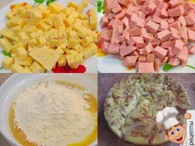 быстрый заливной пирог с колбасой рецепт на кефире