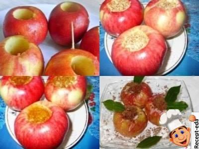 запеченные яблоки с медом и орехами в духовке