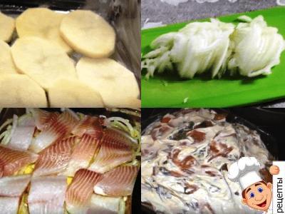 запеканка из картофеля с рыбой