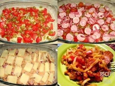 запеканка из макарон и колбасы в духовке