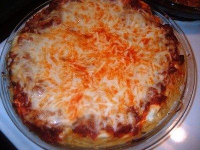 Спагетти с сыром и помидорами в духовке