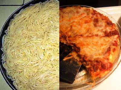 запеканка из спагетти с сыром и помидорами