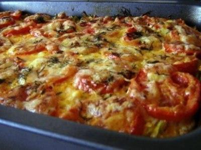 Кабачки с фаршем помидорами и сыром в духовке