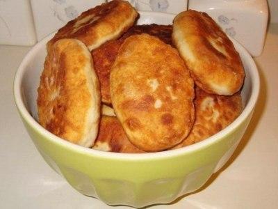 жареные пирожки на кефире. Тесто без дрожжей