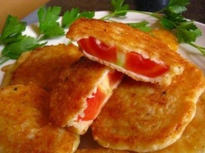 Жареные помидоры в сырном кляре, рецепт