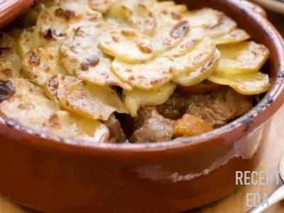 жаркое из говядины с картошкой в духовке