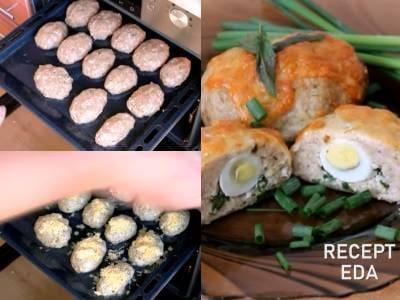зразы из индейки с перепелиными яйцами