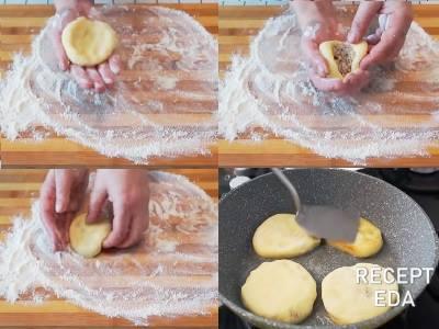 зразы картофельные с фаршем рецепт приготовления на сковороде